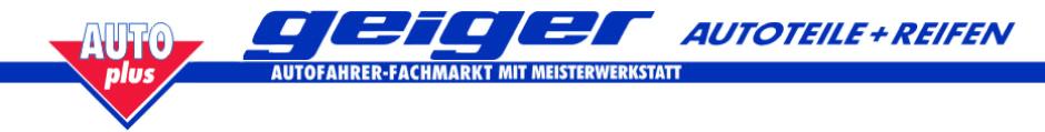 Autoteile Geiger für Leonberg, Rutesheim, Renningen und Magstad